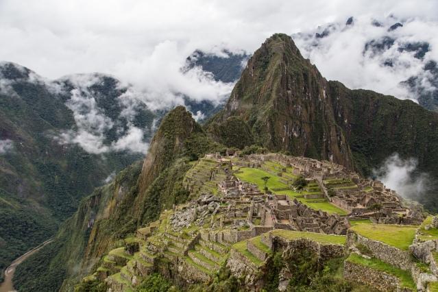 Bild 3- Machu Picchu- högt uppeifrån