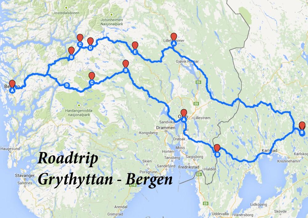 Roadtrip Grythyttan - Bergen